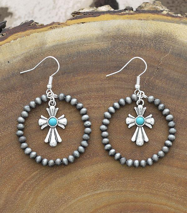 New Arrival :: Wholesale Western Navajo Pearl Bead Earrings