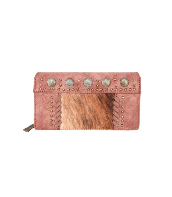 New Arrival :: Wholesale Trinity Ranch Cowhide Hair-On Wallet