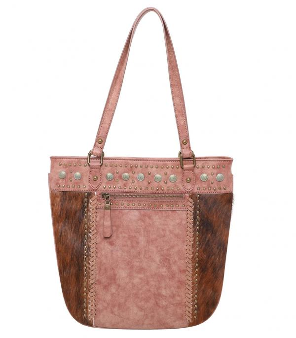 New Arrival :: Wholesale Trinity Ranch Cowhide Handgun Tote