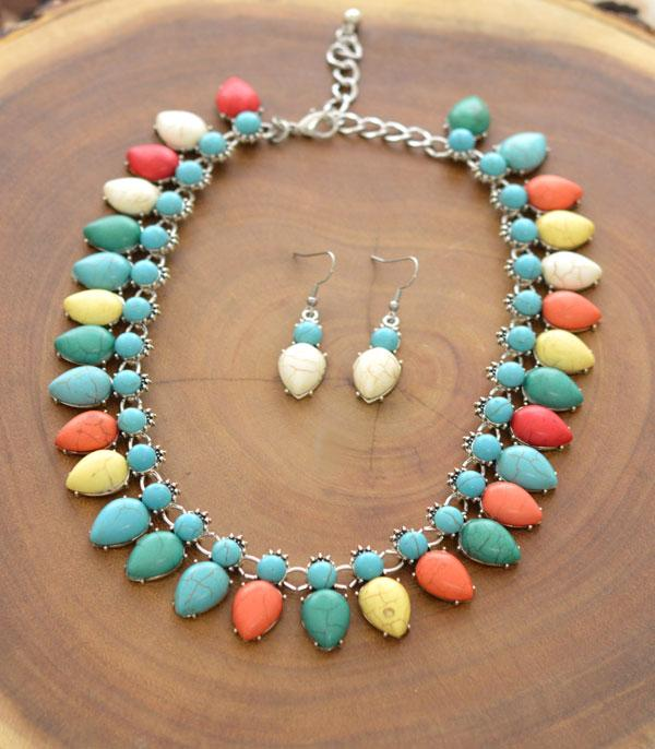 New Arrival :: Wholesale Turquoise Necklace Set