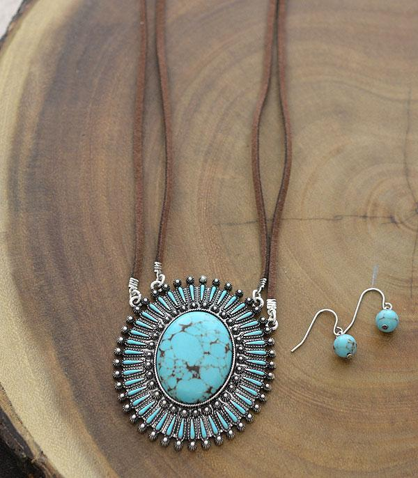 New Arrival :: Wholesale Turquoise Oval Pendant Necklace