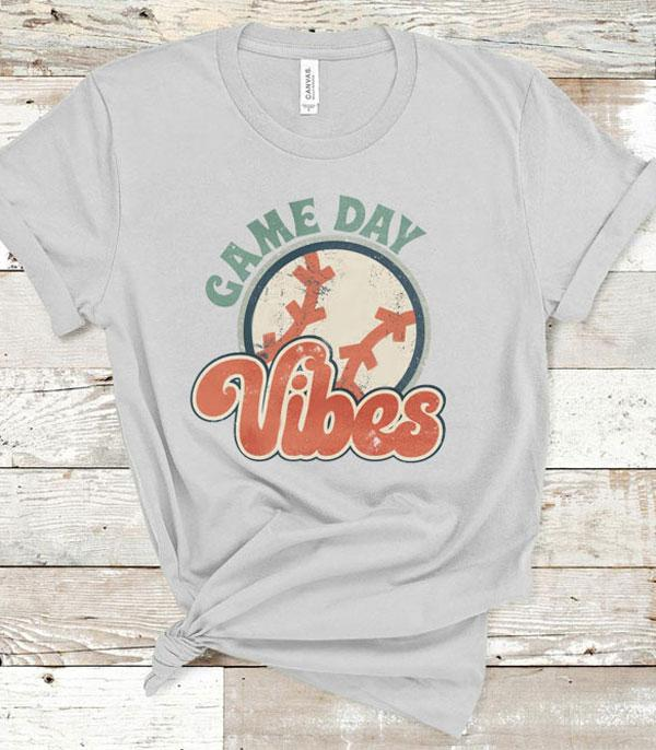 New Arrival :: Wholesale Retro Game Day Vibes Graphic Tshirt