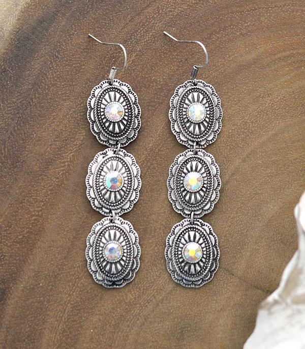 New Arrival :: Wholesale Western Concho Drop Earrings