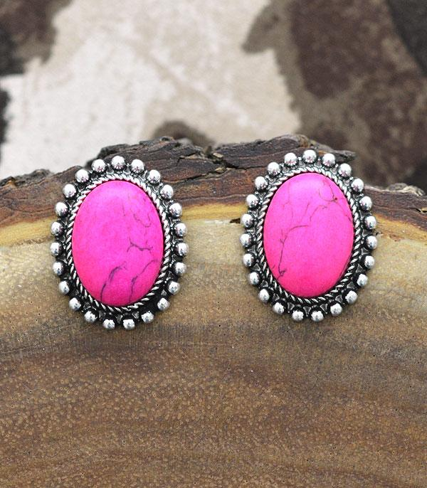 New Arrival :: Wholesale Western Turquoise Oval Post Earrings