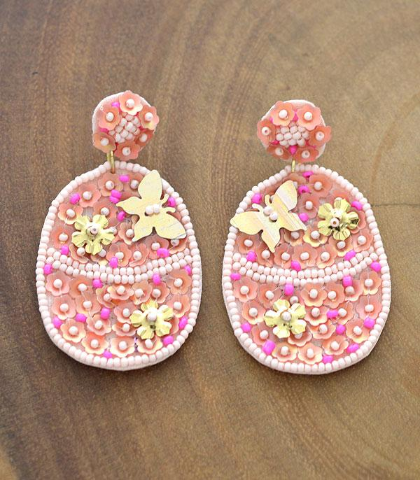 New Arrival :: Wholesale Handmade Beaded Easter Egg Earrings