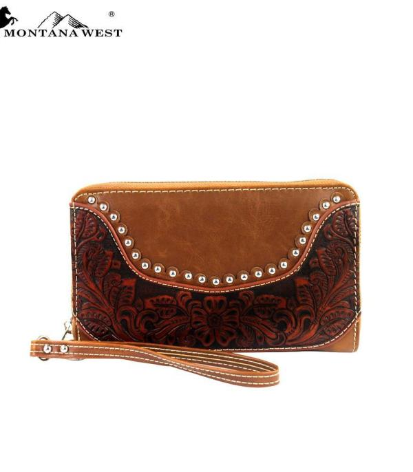 New Arrival :: Wholesale Montana West Partial Leather Wallet
