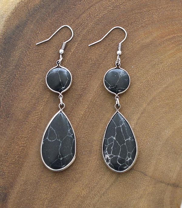 New Arrival :: Wholesale Turquoise Teardrop Dangle Earrings