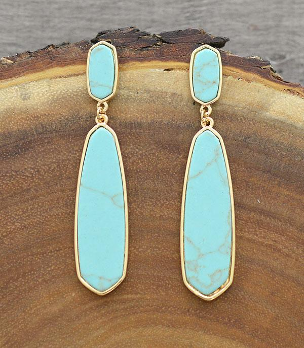 New Arrival :: Wholesale Turquoise Drop Earrings