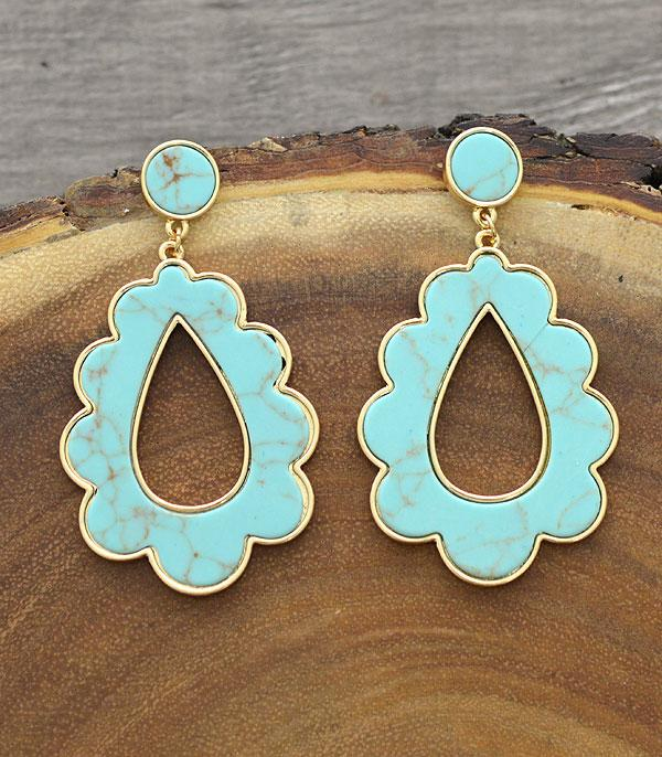 New Arrival :: Wholesale Turquoise Teardrop Earrings