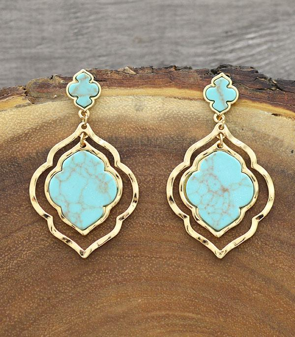 New Arrival :: Wholesale Turquoise Dangle Earrings