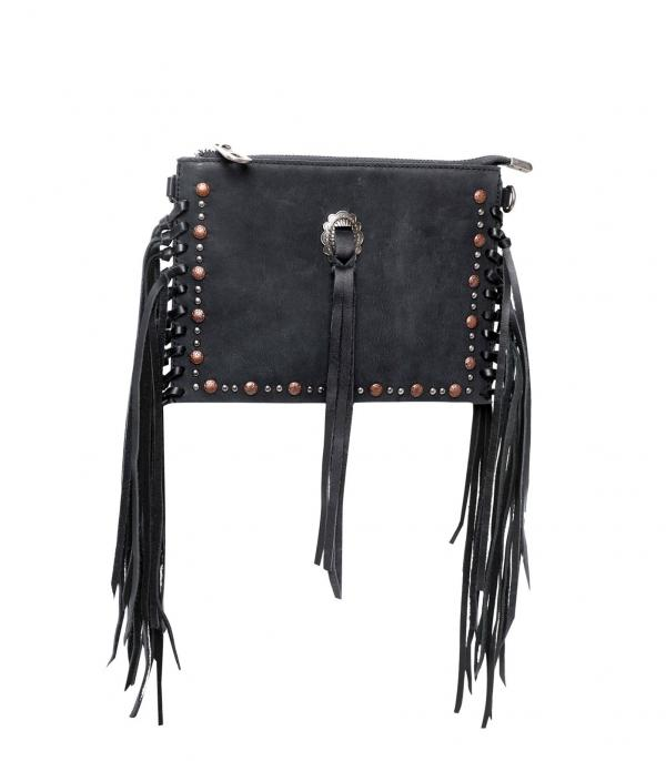 New Arrival :: Wholesale Genuine Leather Fringe Crossbody Wristle