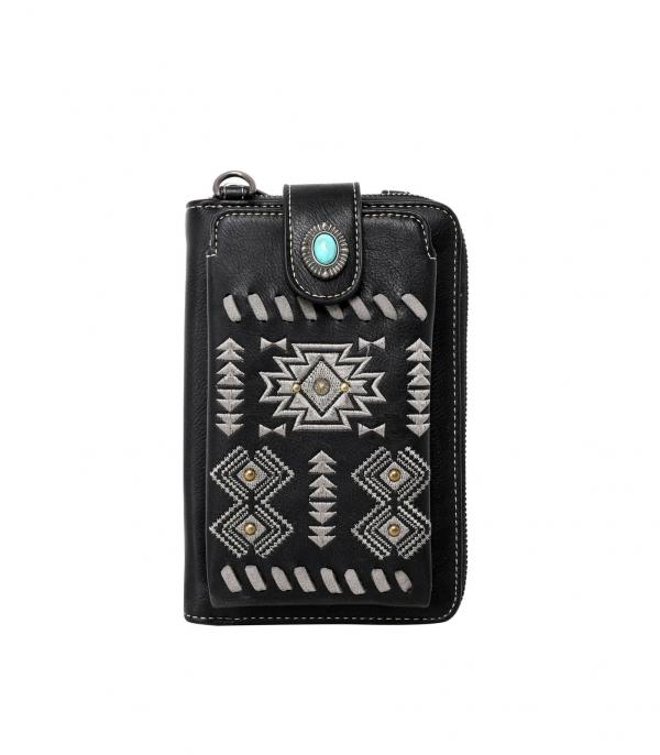New Arrival :: Wholesale Aztec Phone Wallet Crossbody