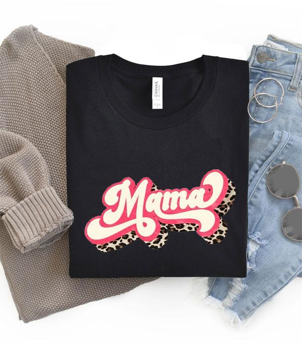 New Arrival :: Wholesale Retro Leopard Mama Tshirt
