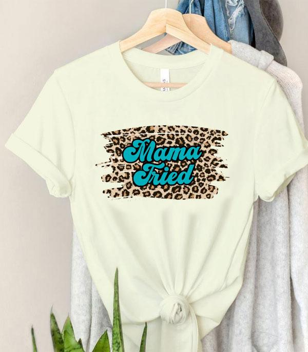 New Arrival :: Wholesale Mama Tried Leopard Short Sleeve Tee