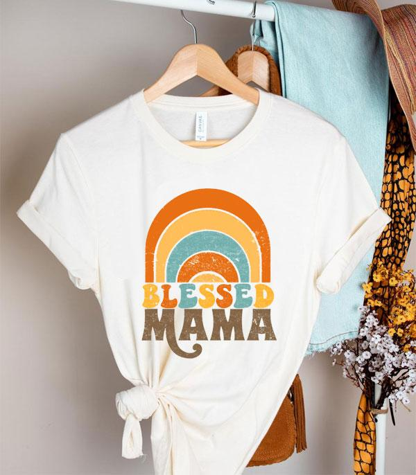 New Arrival :: Wholesale Retro Blessed Mama Graphic Tshirt