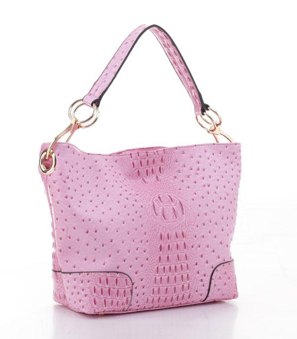 New Arrival :: Wholesale Faux Ostrich Croc Hobo Bag