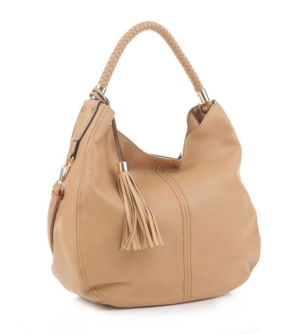 New Arrival :: Wholesale Faux Leather Hobo Tassel Bag