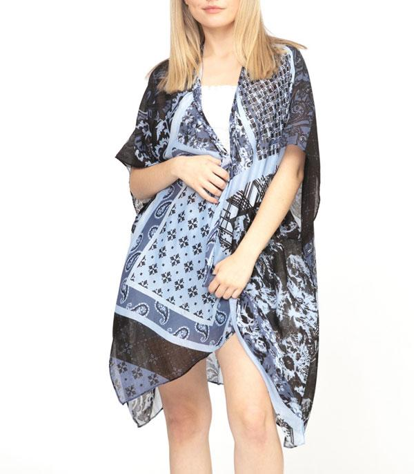 New Arrival :: Wholesale Paisley Print Light Weight Kimono