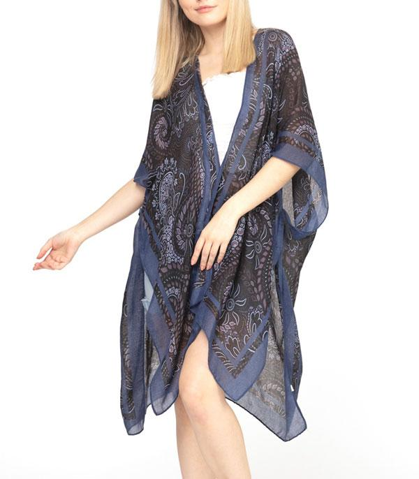 New Arrival :: Wholesale Paisley Boho Light Weight Kimono