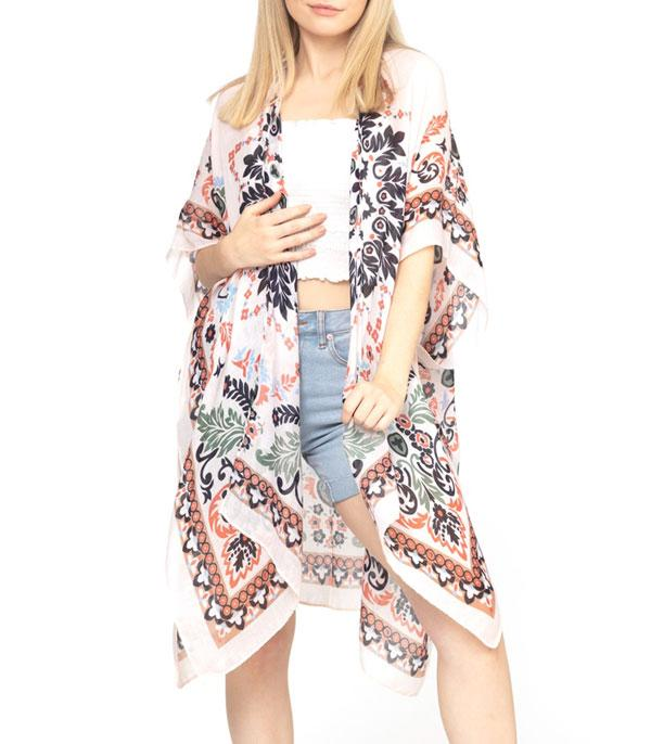 New Arrival :: Wholesale Bohemian Light Weight Kimono
