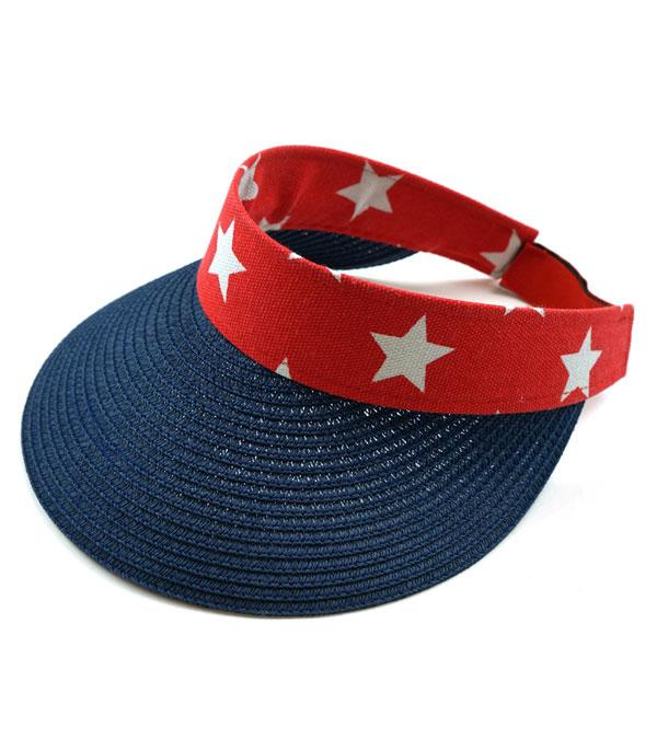 New Arrival :: Wholesale American Flag Visor Sun Hat