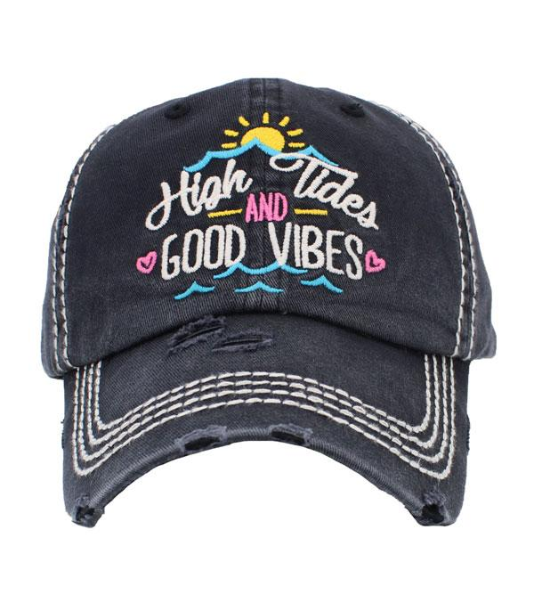 New Arrival :: Wholesale High Tides Good Vibes Vintage Ballcap