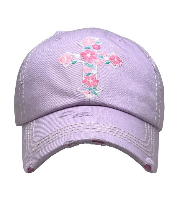 New Arrival :: Wholesale Floral Cross Vintage Ballcap