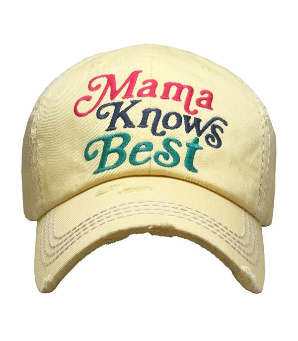New Arrival :: Wholesale Mama Knows Best Vintage Ballcap
