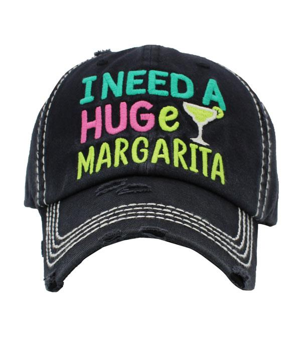 New Arrival :: Wholesale I Need A Margarita Vintage Ballcap