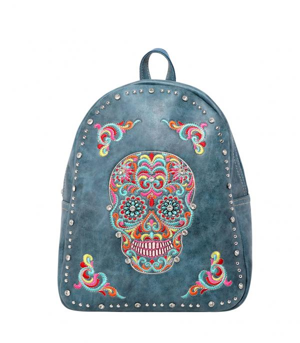 New Arrival :: Wholesale Montana West Sugar Skull Backpack