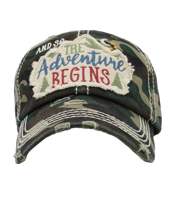 New Arrival :: Wholesale Adventure Begins Vintage Ballcap