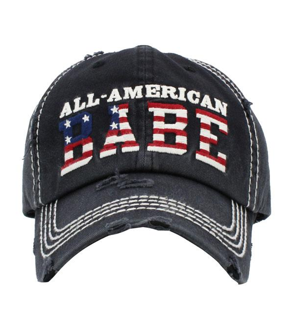 New Arrival :: Wholesale All American Babe Vintage Ballcap