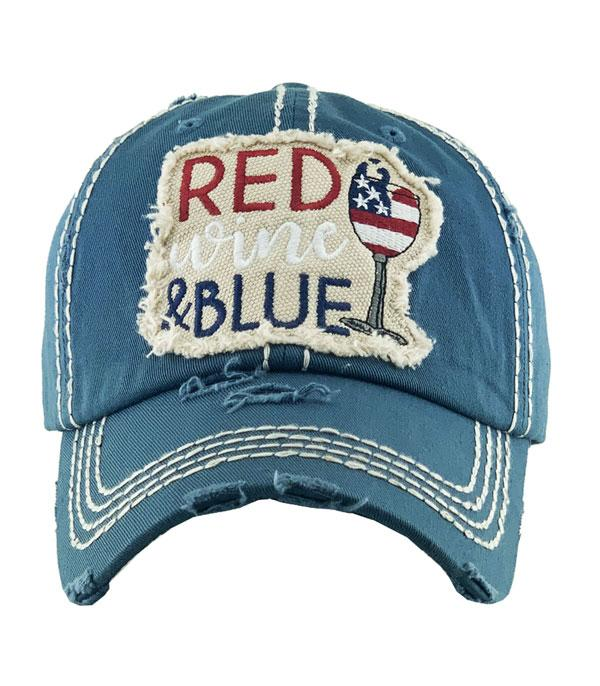 New Arrival :: Wholesale Red Wine Blue Vintage Ballcap