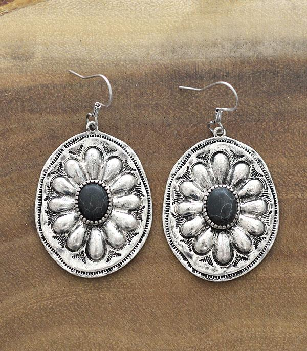 New Arrival :: Wholesale Western Concho Dangle Earrings