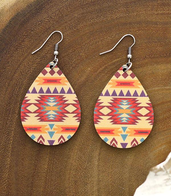 New Arrival :: Wholesale Navajo Teardrop Wood Earrings
