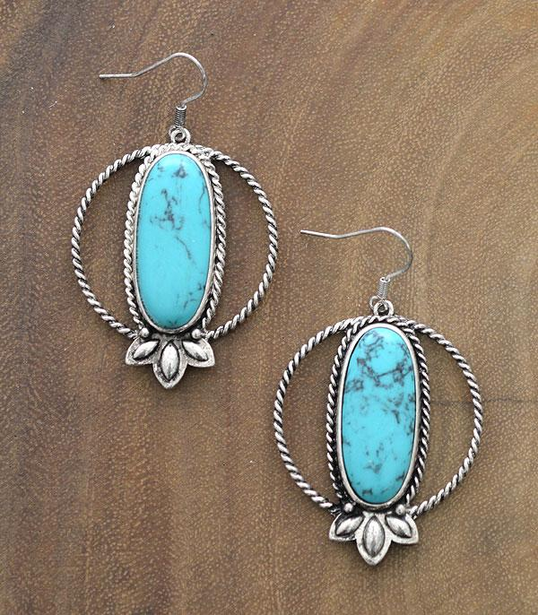 New Arrival :: Wholesale Semi Stone Western Turquoise Earrings