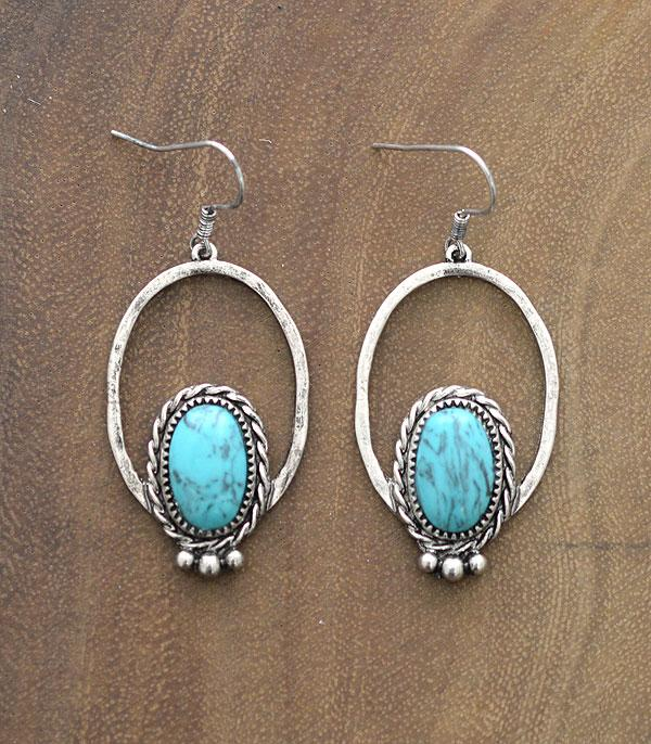 New Arrival :: Wholesale Western Turquoise Dangle Earrings