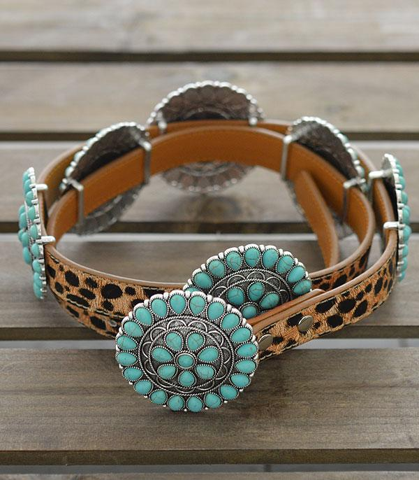New Arrival :: Wholesale Western Turquoise Leopard Belt