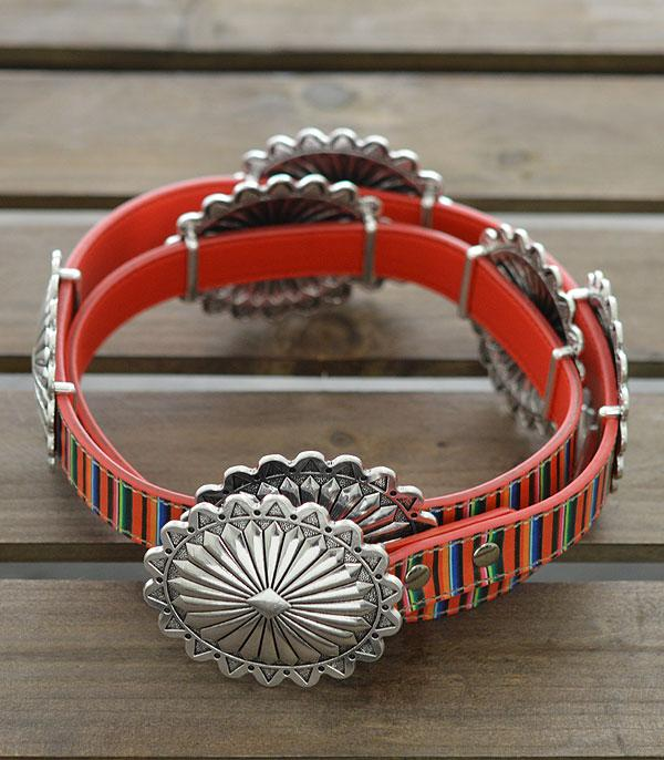 New Arrival :: Wholesale Western Concho Serape Belt