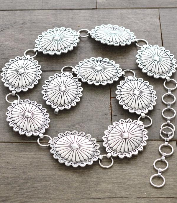 New Arrival :: Wholesale Western Silver Concho Belt