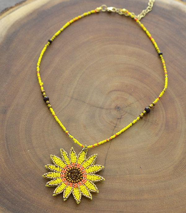 New Arrival :: Wholesale Sunflower Seed Bead Necklace