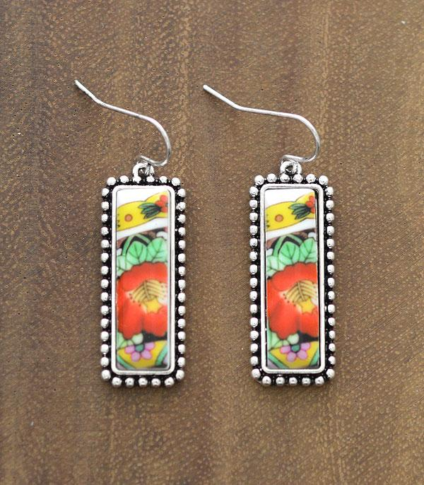 New Arrival :: Wholesale Floral Western Dangle Earrings