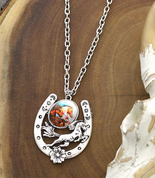 New Arrival :: Wholesale Western Horseshoe Pendant Necklace