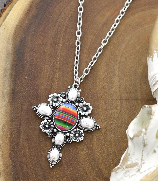New Arrival :: Wholesale Serape Cross Pendant Necklace