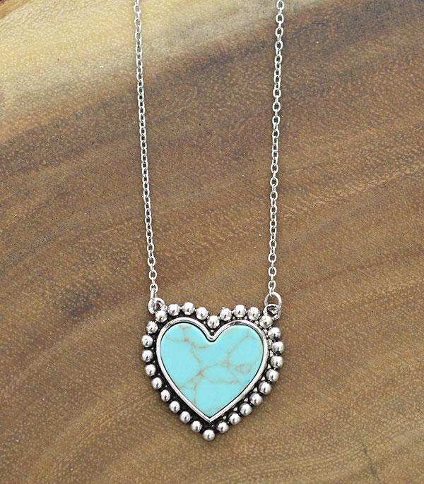 New Arrival :: Wholesale Turquoise Heart Necklace