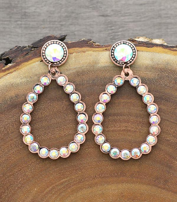 New Arrival :: Wholesale Teardrop Stone Post Earrings
